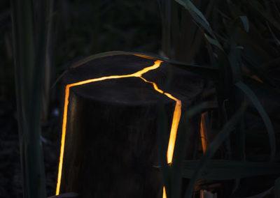Lampa ogrodowa - Pniak