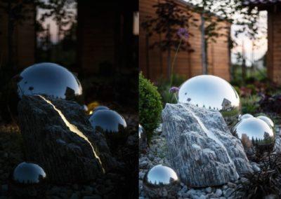 Lampa ogrodowa - Kamień kora