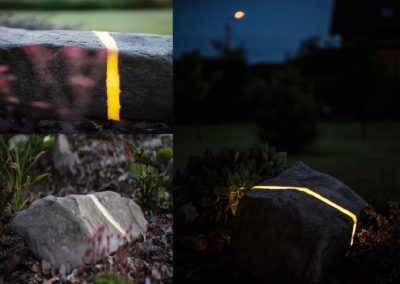 Lampa ogrodowa - Kamień rzeczny