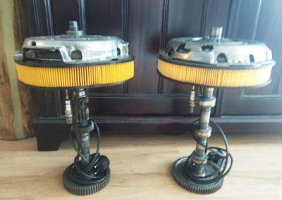 lampa stołowa z cz. samochod.